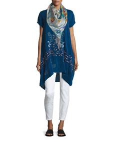 Pokika Blouse 2 By Ellyn johnny was willamy embroidered georgette blouse ellyna printed silk scarf