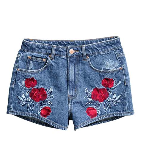 embroidery denim shorts buy now 10 embroidered denim pieces for summer photo 11