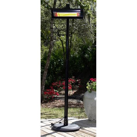 Fire Sense Black Powder Coated Steel Straight Pole Sense Infrared Patio Heater