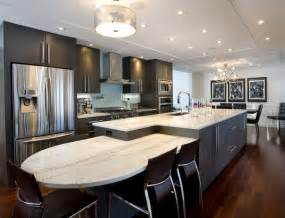 Galley Kitchen Design With Island Large Island Contemporary Kitchen Other Metro By