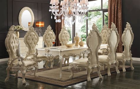 HD 13012 Homey Design Royal Palace Dining Set