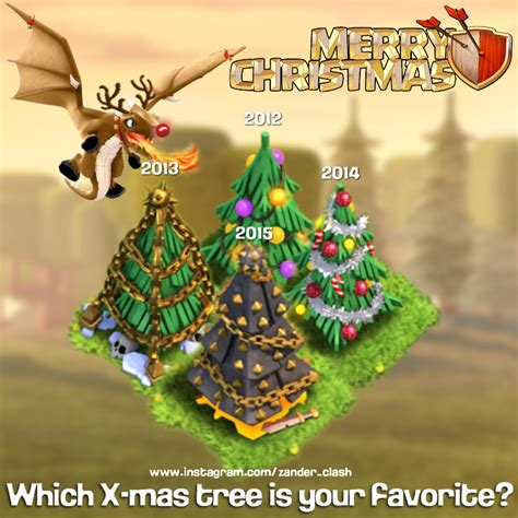 in coc xmas tree in 2016 one and only x tree 2016 thread
