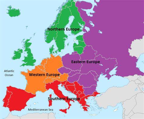 regionale europea europe regions map