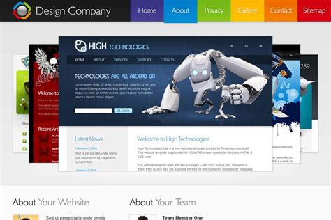 Free Html5 Template For Design Company Website Monsterpost Fancy Website Design Templates