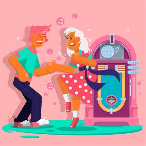 Imagenes Que Se Mueven Al Ritmo De La Musica Para Android   dancing people funny cartoon style los hombres y mujeres