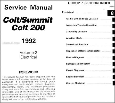service manual pdf 1992 dodge colt workshop manuals 1978 1987 new haynes repair manual 1992 colt 200 summit repair shop manual original 2 volume set