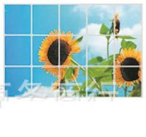 jual stiker wallpaper dinding dapur motif sepasang bunga