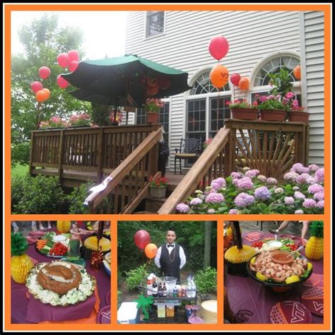 luau backyard party ideas graduation party food showcase hokie luau