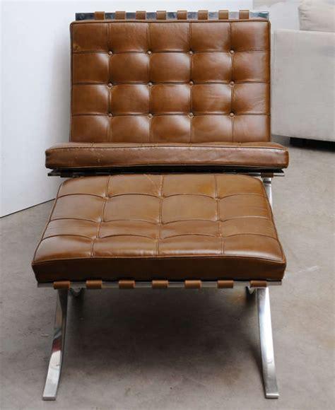 Barcelona Chair And Ottoman Vintage Mies Der Rohe Quot Barcelona Quot Chair And Ottoman At 1stdibs