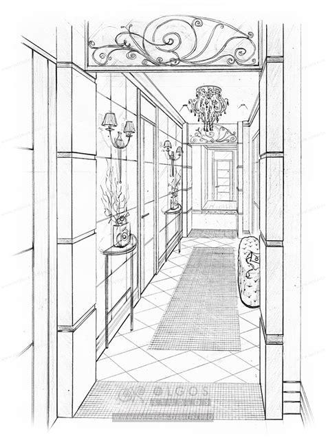 Hallway interior design visualisations, hall design