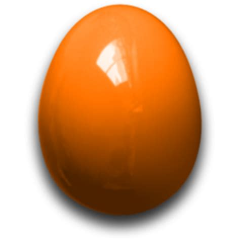 easter egg orange icon