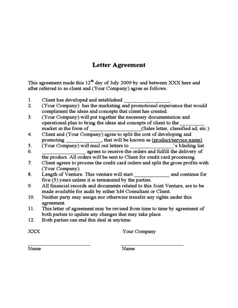 joint venture contract template free archives ssrevizion