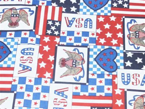 Patchwork Usa - patriotic
