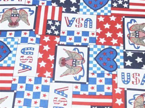 Patchwork Fabric Usa - patriotic