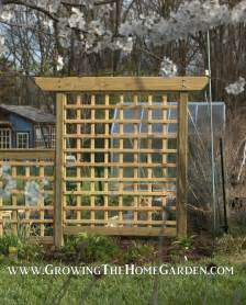 stand alone trellis building an arbor style trellis growing the home garden