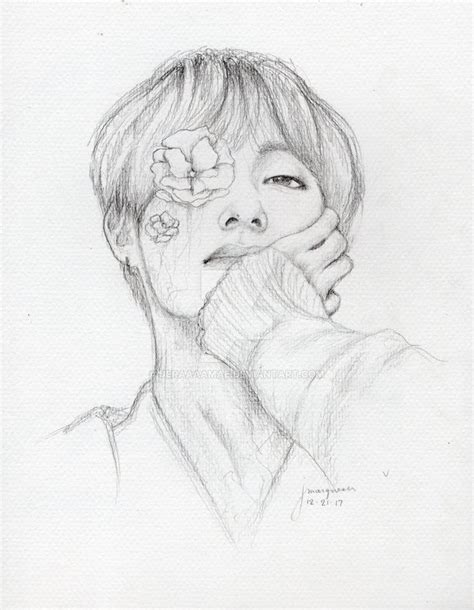 V Sketch Bts by 2 Bts Drawing Sketch For Free On Ayoqq Org