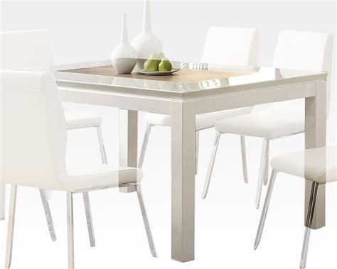 white table dining white dining table kilee by acme furniture ac70990