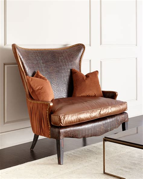 hickory tannery dustin leather oversize chair