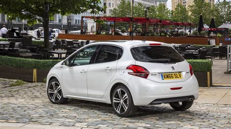 peugeot 208 gti white peugeot 208 1 2 gt line 2016 review by car magazine