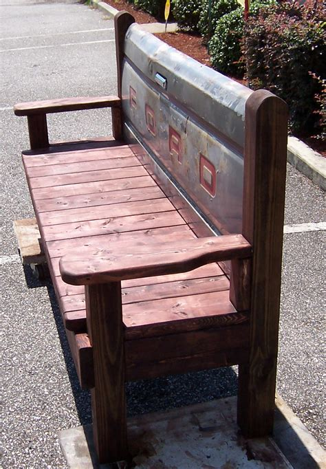 bench made from tailgate triple a resale hand made wooden bench with ford tailgate