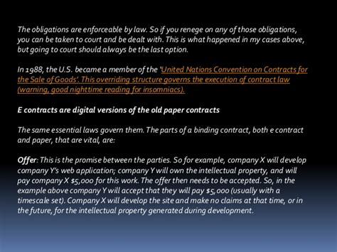 beginners guide to the law e contracts 101 the beginners guide to contract law