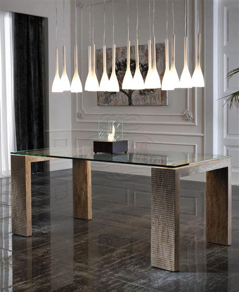 tavoli di cristallo sala da pranzo tavolo da pranzo in cristallo e legno pietra elegante