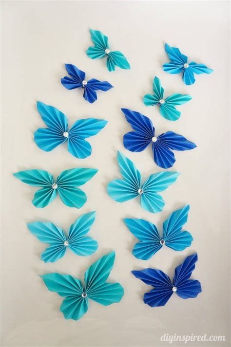 Paper Butterfly Craft - diy accordion paper butterflies diy inspired