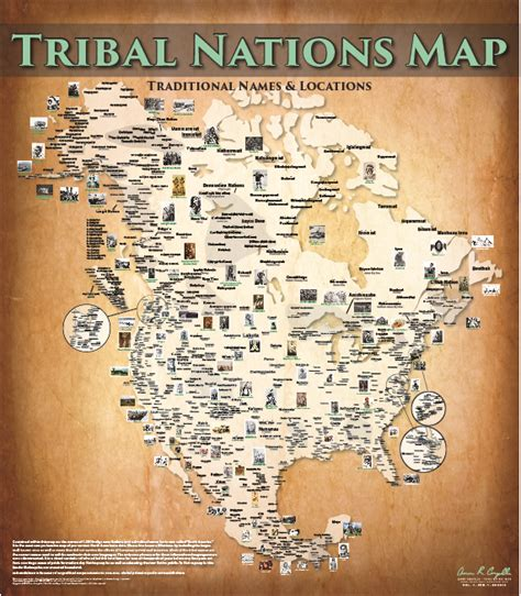 map of american tribes cartography