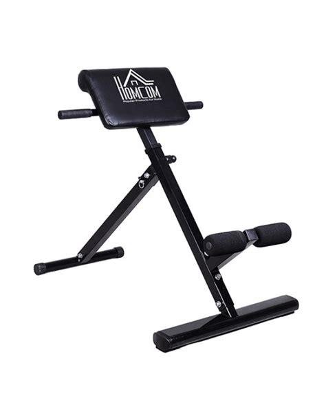 allenamento dorsali a casa homcom panca per allenamento dorsali e addominali