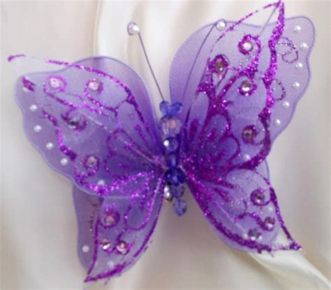 Wedding Clip On Wedding Butterflies clip on large butterfly 7 quot 18cm weddings chair sash