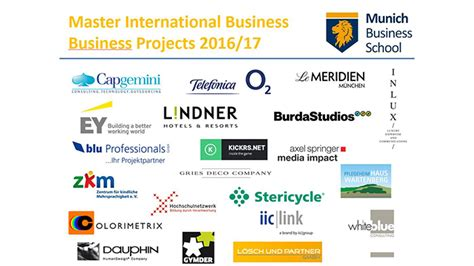 Mba Business Projects by Master International Business Business Projects 2016 17