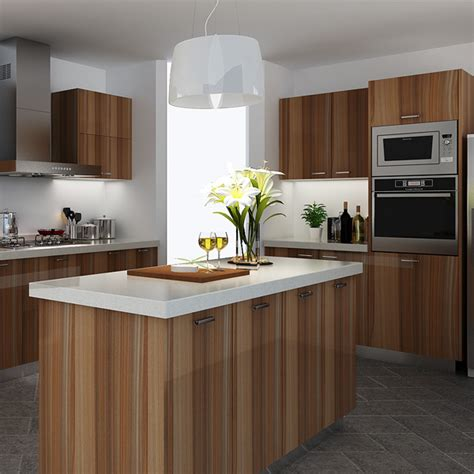 Wood Grain Laminate Kitchen Cabinets Kenya High Glossy Wood Grain Melamine Kitchen Cabinet Oppein One Stop Project Solution