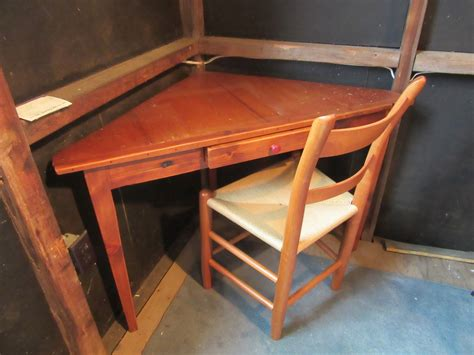 Antique Pine Corner Desk by West Barnstable Tables Coffee Occasional Tables