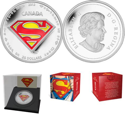 Koin Coin Set Canada Superman Anniversary royal canadian mint unveils new collector coins to celebrate 75th anniversary of superman