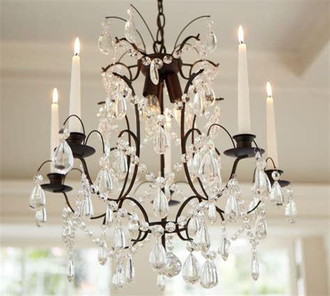 candelabra chandelier candelabra chandelier pottery barn