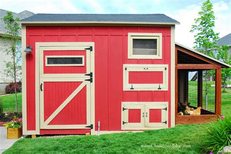 Shed Chicken Coop by Remodelaholic Diy Chicken Coop With Attached