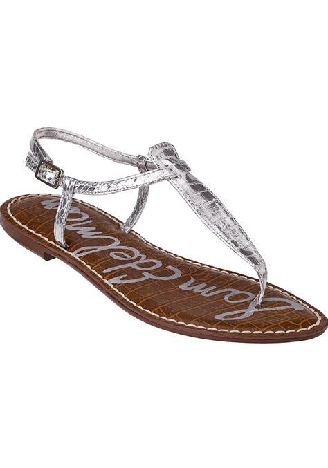 silver sandals sam edelman gigi flat sandal silver croc in silver silver