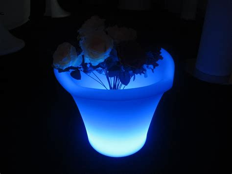 Glowing Planter Pots by Rechargeable Waterproof Color Changing Glowing Led Flower Planter Kfp 4232