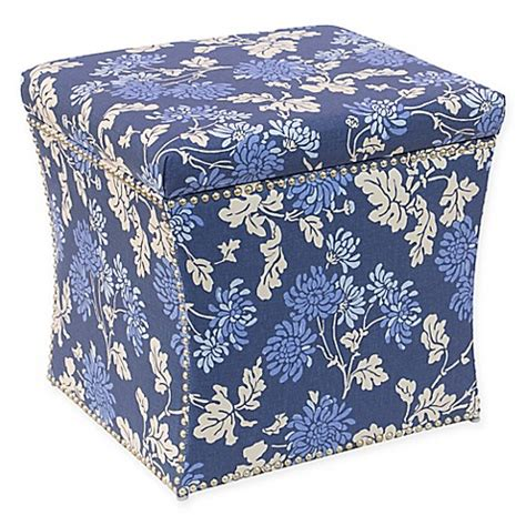 buy storage ottoman furniture from bed bath beyond buy skyline furniture storage ottoman in blue from bed
