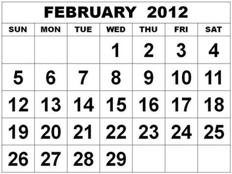 Feb 2012 Calendar February 2012 Monthly Expenses