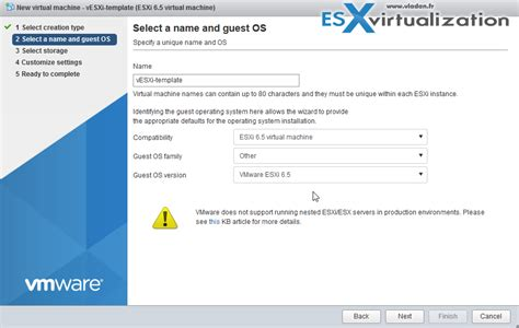 how to create a nested esxi 6 5 template esx virtualization