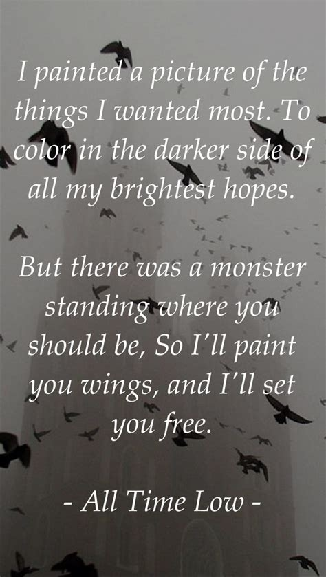toxic lyrics all time low all time low paint you wings my quotes