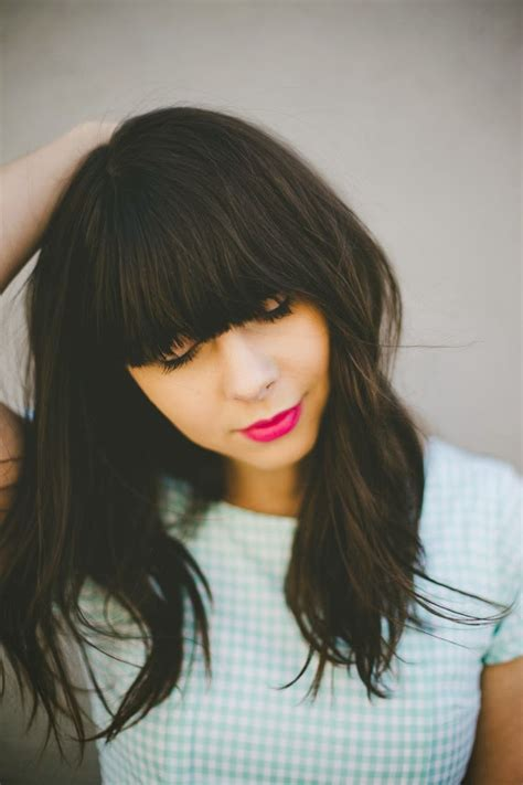 hairstyle ideas with a fringe awesome full fringe hairstyle ideas for medium hair 3