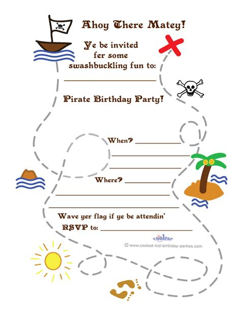 treasure map invitation template printable treasure map invitation