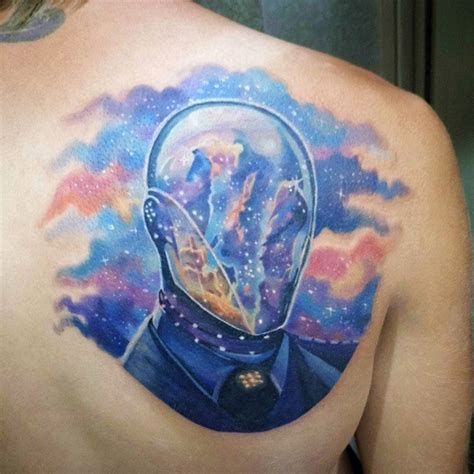 cosmic tattoos spaceman watercolor best design ideas