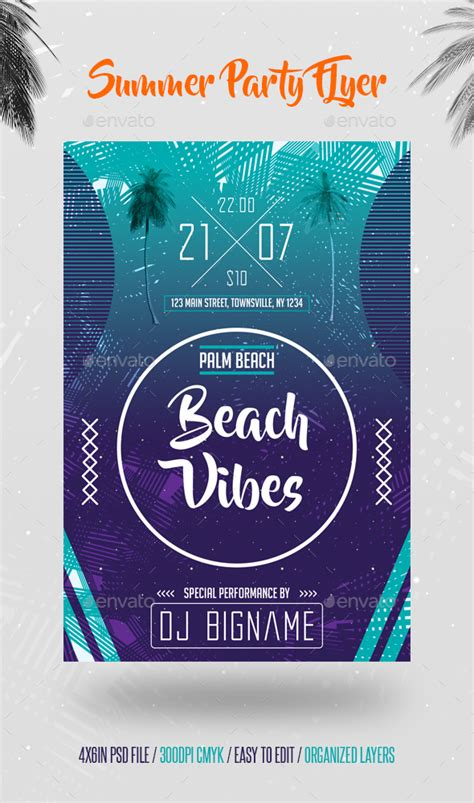 dafont beyond the mountains summer party flyer template by prowebmedia graphicriver