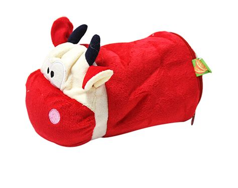 decorative single toilet paper cover cute plush red cow tissue box cover decorative toilet