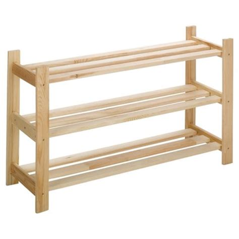 tesco shoe storage buy solid pine 3 tier shoe rack from our shoe storage