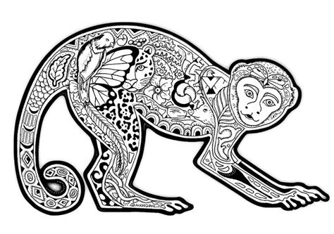 chinese year of the monkey coloring page the year of monkey coloring pages chinese new year