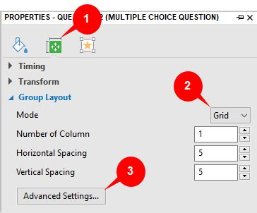 isotope layout mode none group layout of questions activepresenter 7